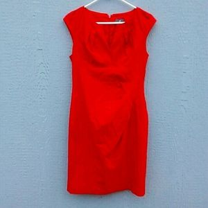 Adrianna Papell | Red sheath dress size 8